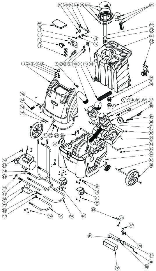 Sandia 80 2300 H 2 Stage Carpet Extractor 300 Psi
