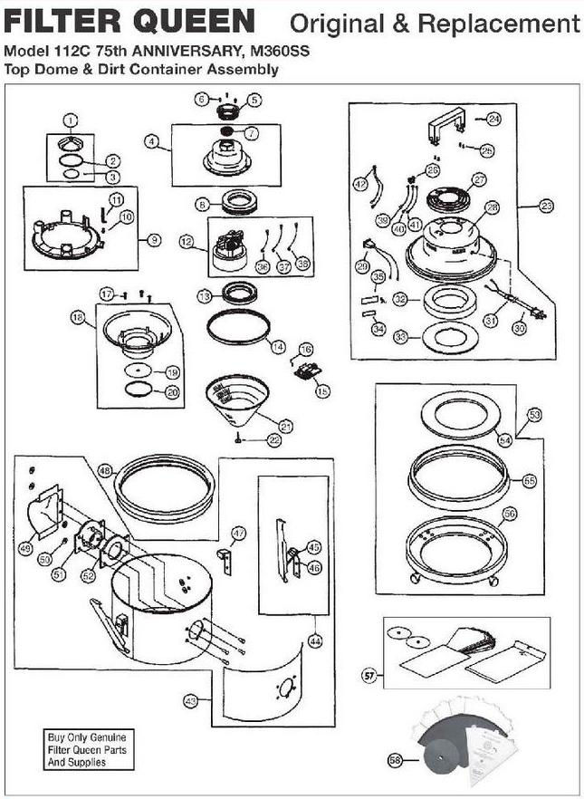 filter queen vacuum wiring diagram