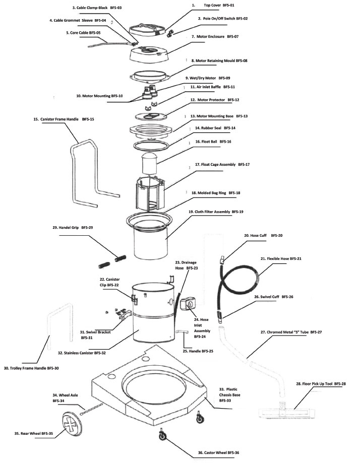2 5 gallon shop vac motor diagram