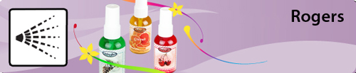 Vacuum scents and airfresheners by Rogers with spray caps